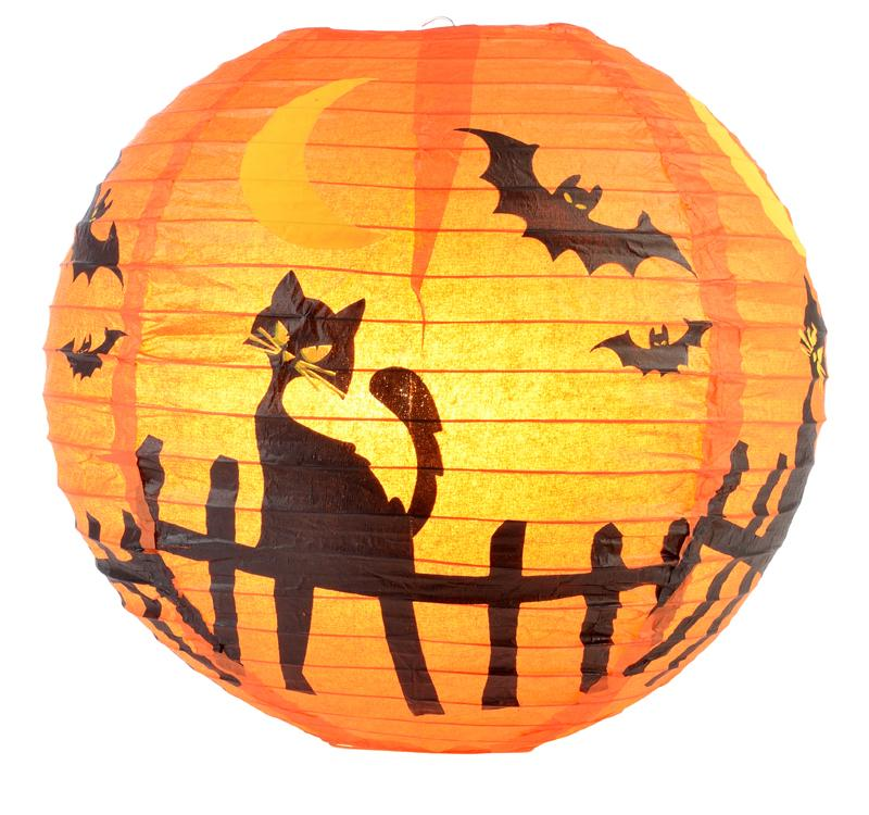 "14"" Black Cat Paper Lantern - Luna Bazaar - Discover. Decorate. Celebrate"