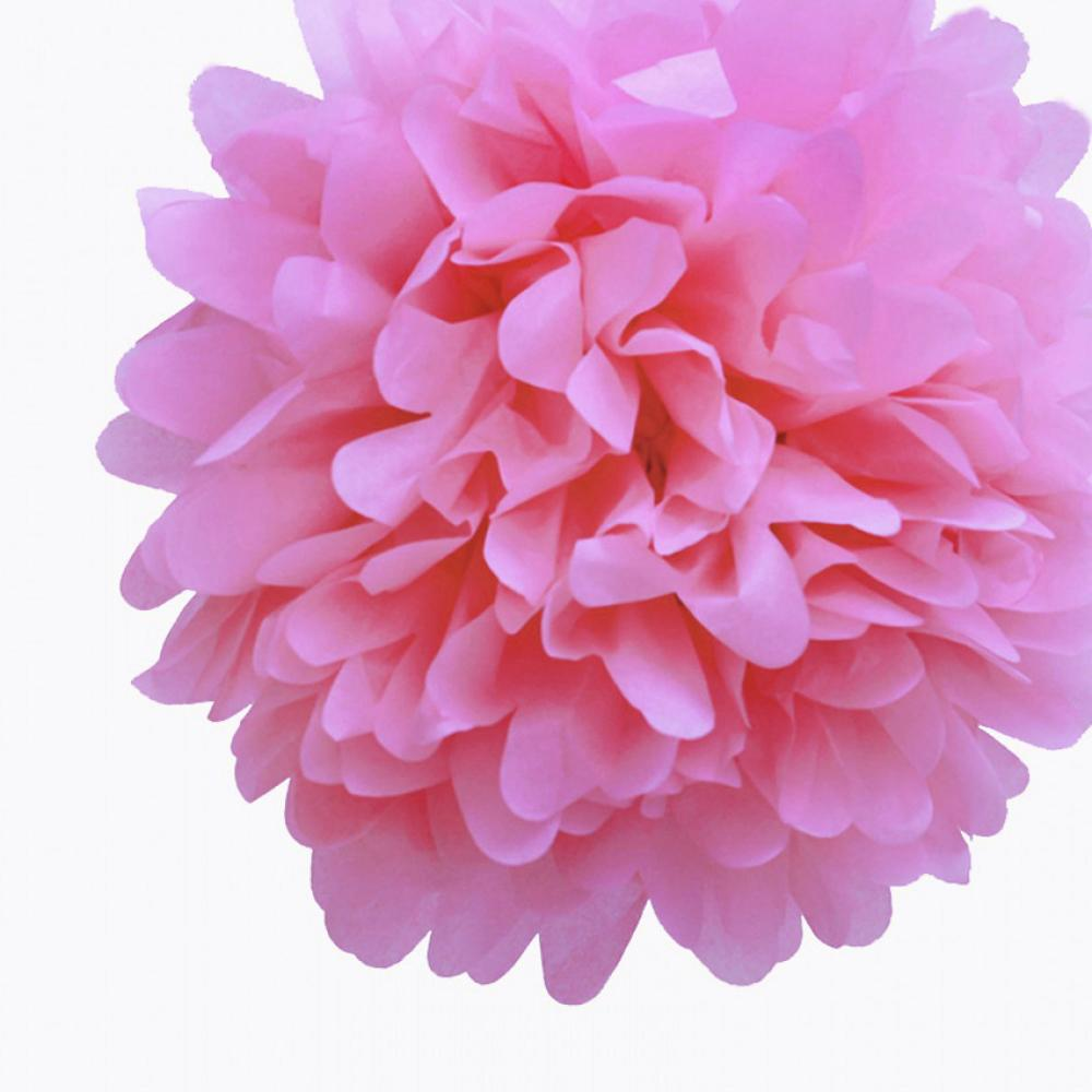 "CLOSEOUT EZ-Fluff 16"" Pink Passion Tissue Paper Pom Poms Flowers Balls, Decorations (4 PACK) - Luna Bazaar 