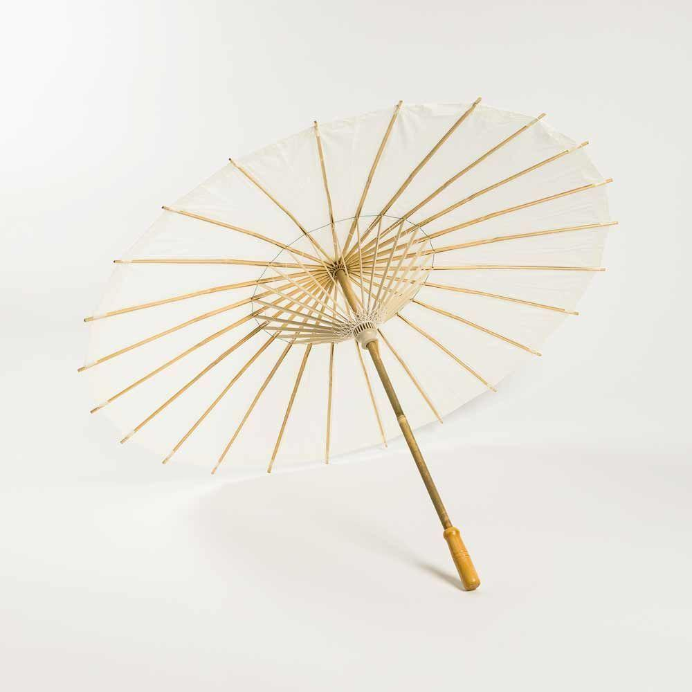 "28"" Beige/Ivory Paper Parasol Umbrella (Sun Protection) - Luna Bazaar - Discover. Decorate. Celebrate"