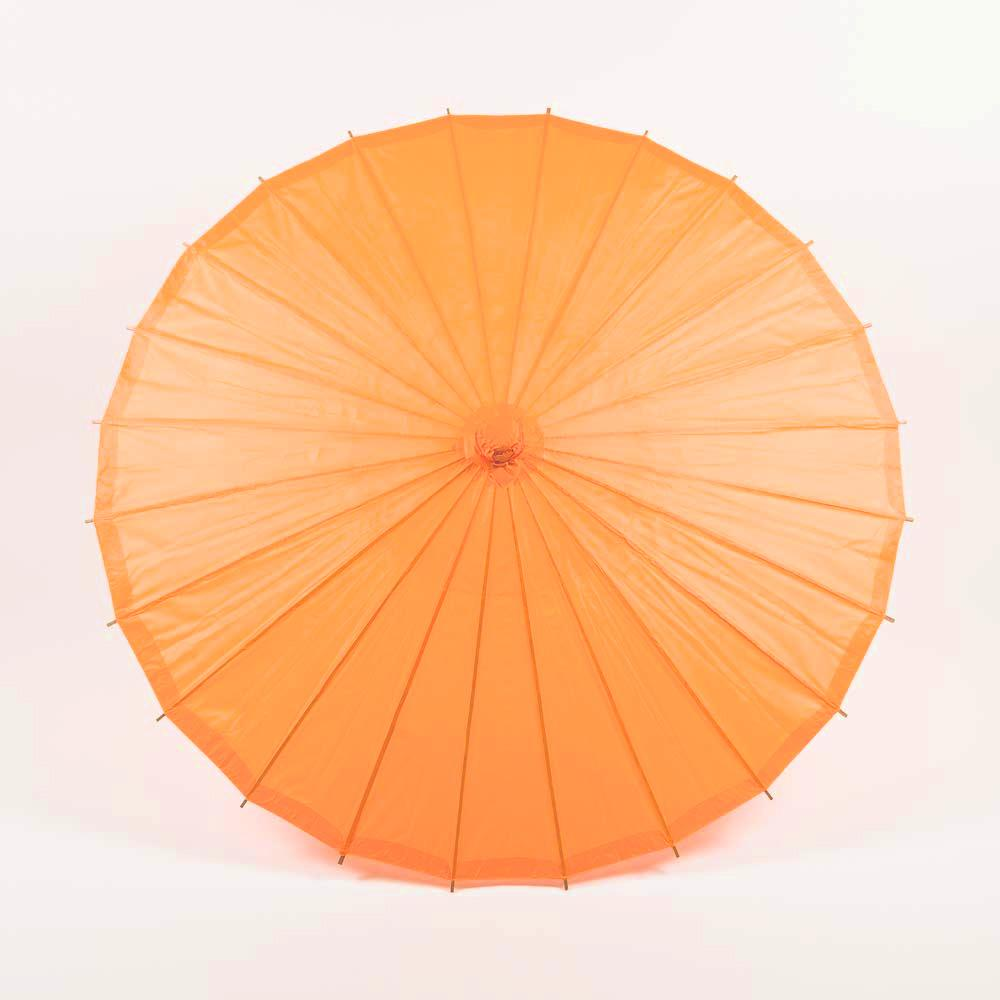"20"" Orange Paper Parasol Umbrella for Weddings and Parties - Great for Kids (Sun Protection) - Luna Bazaar 