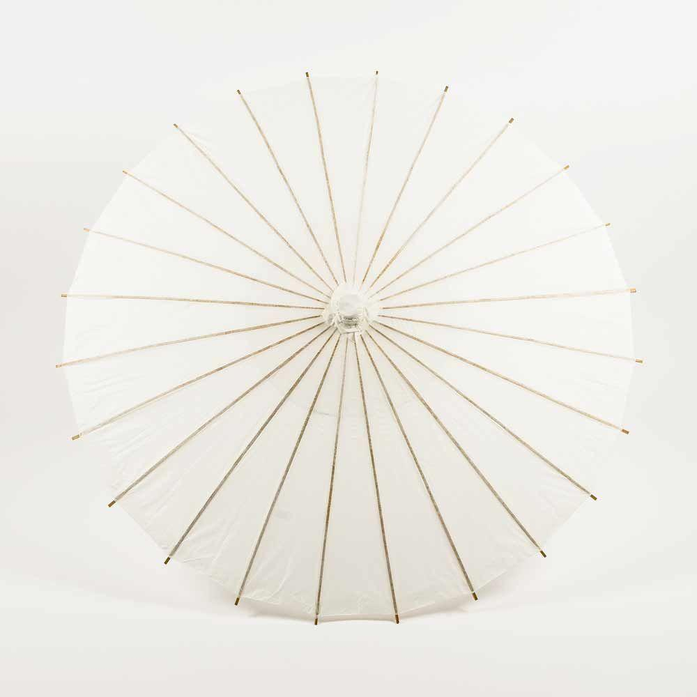 "38"" White Paper Parasol Umbrella (Sun Protection) - Luna Bazaar - Discover. Decorate. Celebrate"