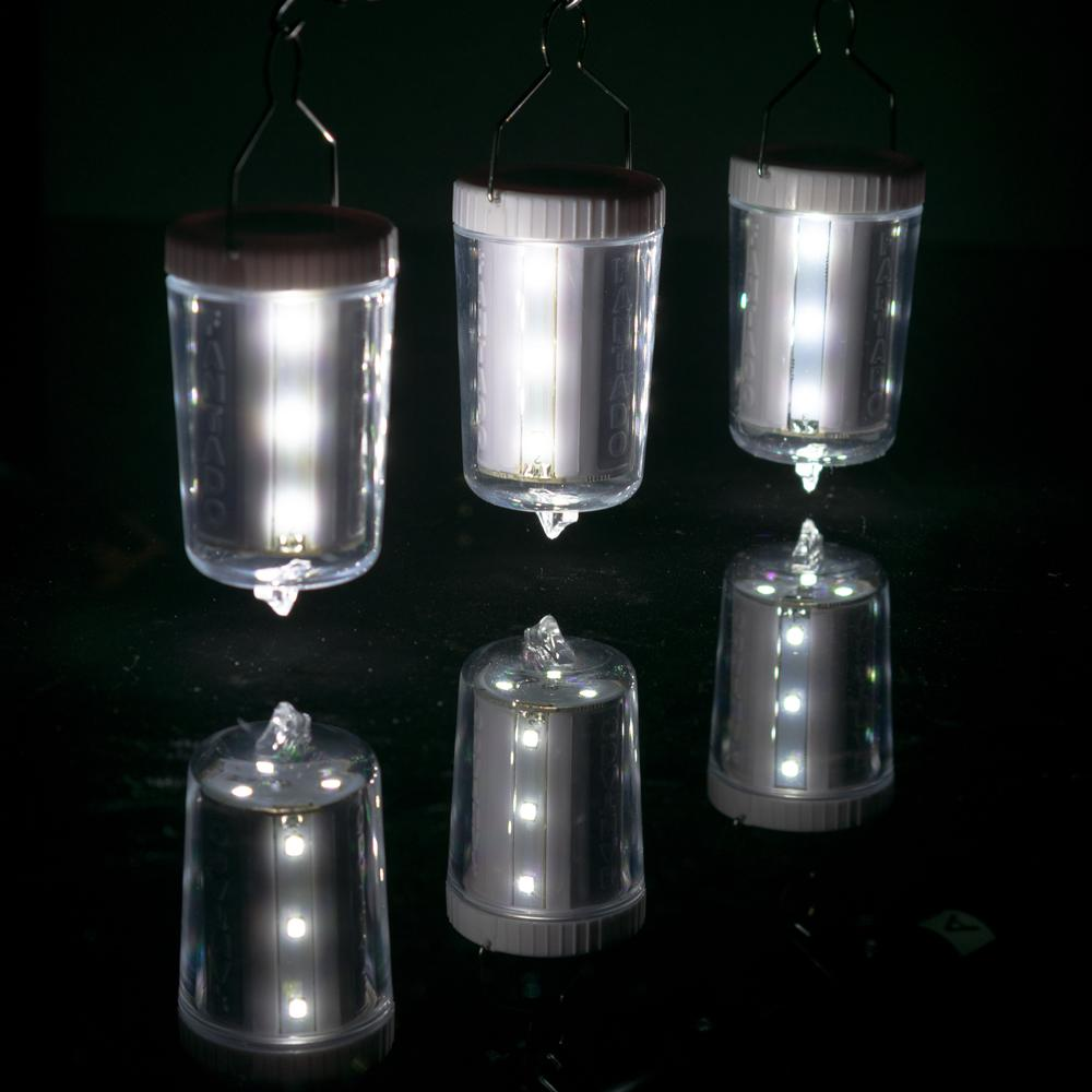 3-Pack Kit w/ Remote Control Cool White 12-LED Omni360 Omni-Directional Lantern Light, Hanging / Table Top (Battery Powered) - Luna Bazaar | Boho & Vintage Style Decor