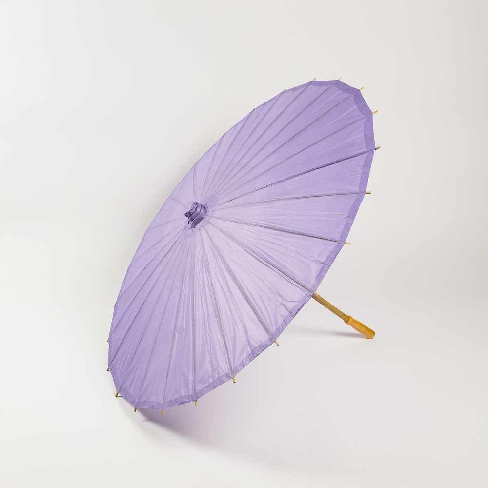 "20"" Lavender Paper Parasol Umbrella for Weddings and Parties - Great for Kids (Sun Protection) - Luna Bazaar - Discover. Decorate. Celebrate"