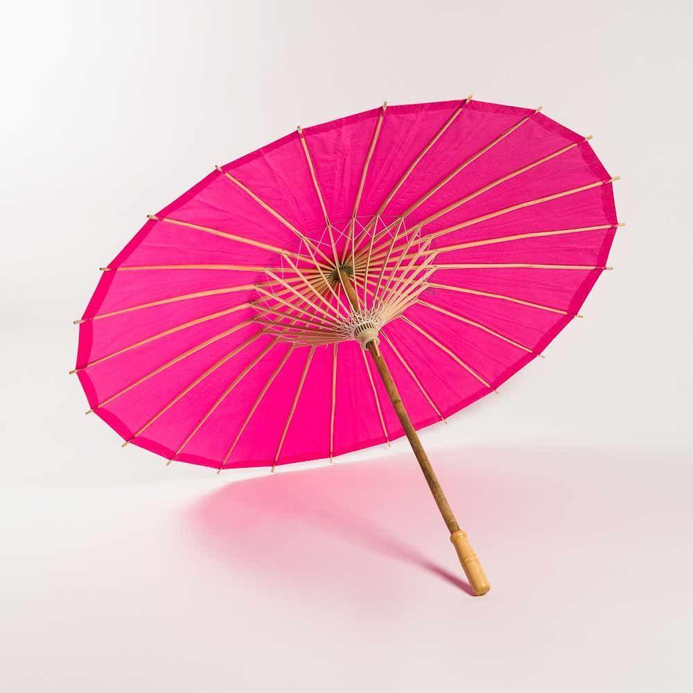 "20"" Fuchsia Paper Parasol Umbrella for Weddings and Parties - Great for Kids (Sun Protection) - Luna Bazaar 