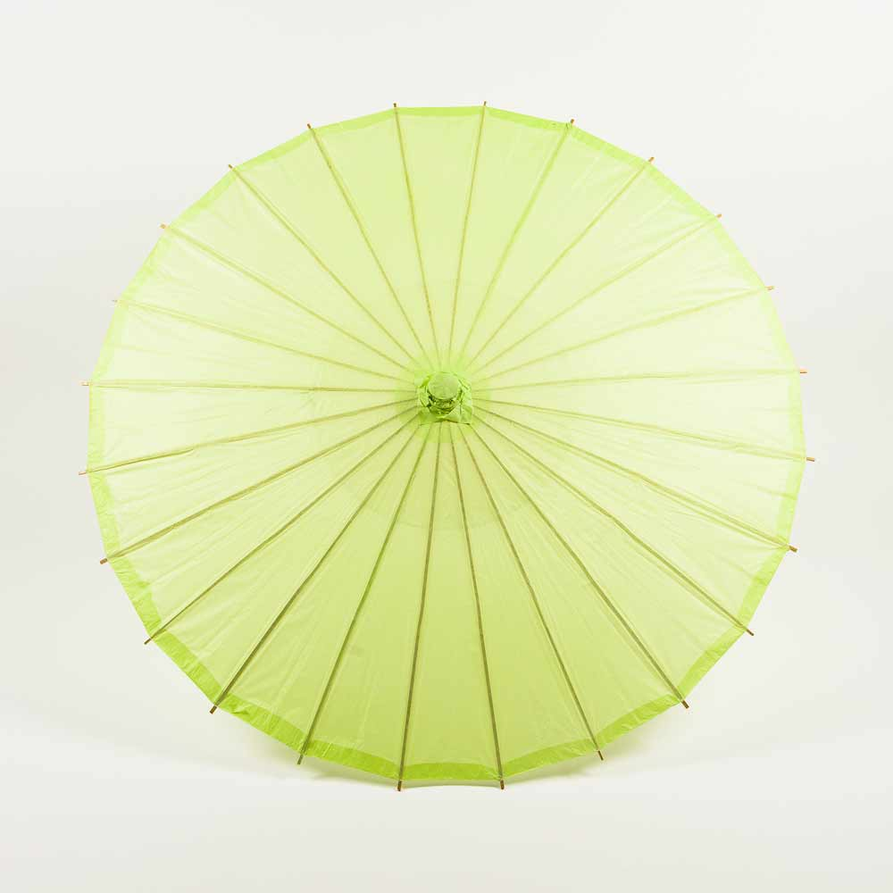 "32"" Light Lime Paper Parasol Umbrella (Sun Protection) - Luna Bazaar 