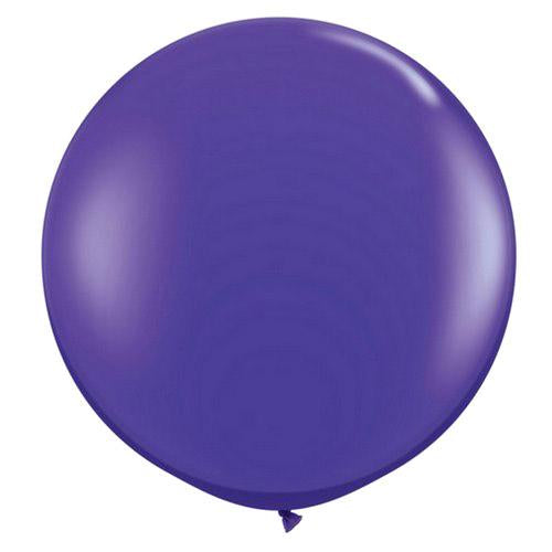 "CLOSEOUT 36"" Purple Round Party Latex Balloon Decorations (2 PACK) - Luna Bazaar 