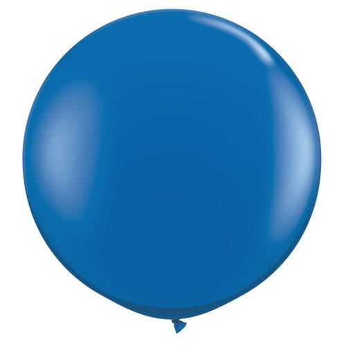 "CLOSEOUT 36"" Royal Blue Round Party Latex Balloon Decorations (2 PACK) - Luna Bazaar 