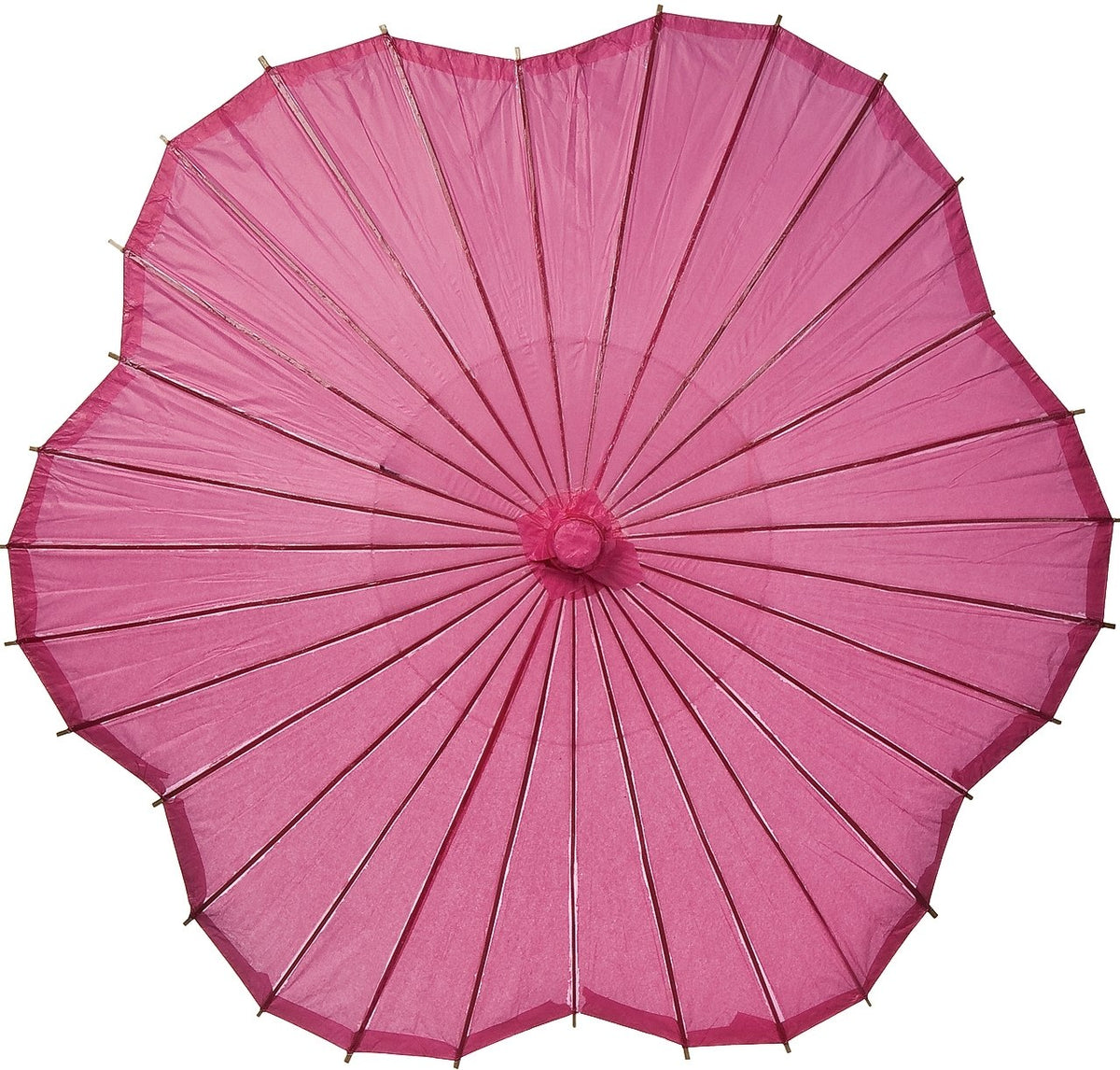 Fuchsia Pink Scalloped 33 Inch Paper Parasol - Luna Bazaar - Discover. Decorate. Celebrate