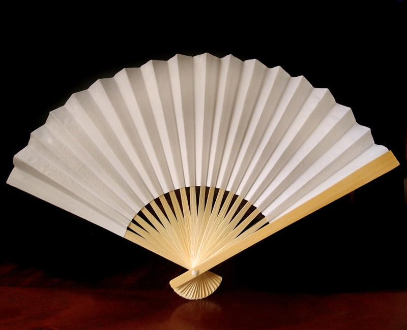Ivory Premium Paper Hand Fan, Set of 20 - Luna Bazaar - Discover. Decorate. Celebrate