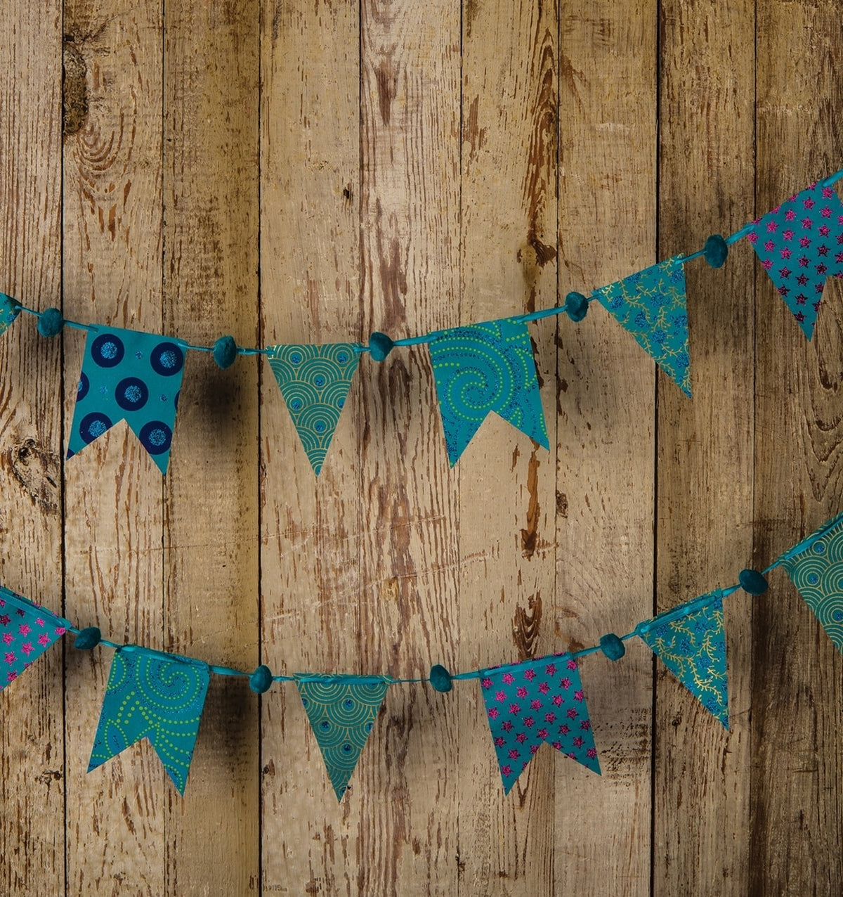 Blue Paper Small Pennant and Flag Banner - Luna Bazaar - Discover. Decorate. Celebrate
