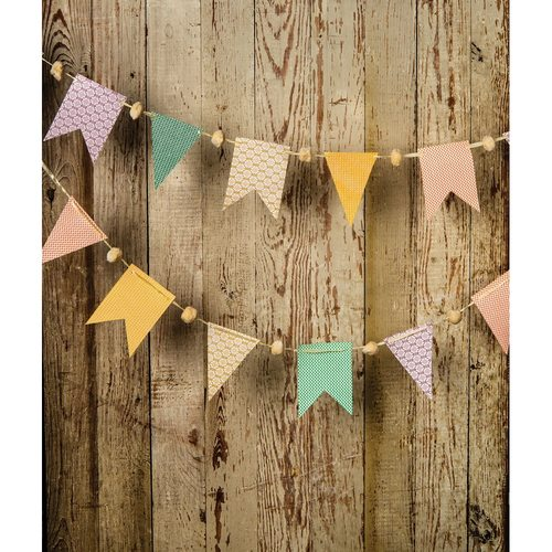 CLOSEOUT Pastel Paper Small Pennant and Flag Banner - Luna Bazaar | Boho & Vintage Style Decor