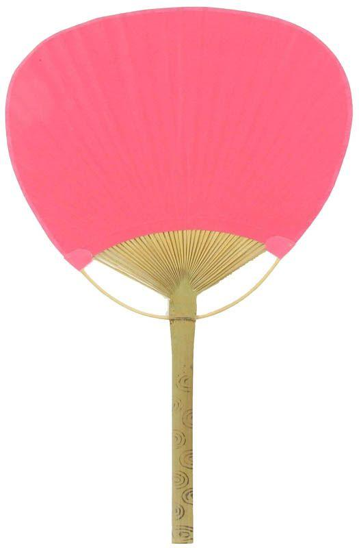 "9"" Fuchsia / Hot Pink Paddle Paper Hand Fans for Weddings (10 Pack) - Luna Bazaar 