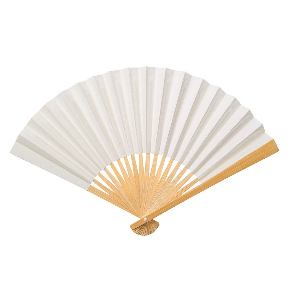 Wedding Beige Premium Paper Hand Fan, Set of 5 - Luna Bazaar | Boho & Vintage Style Decor