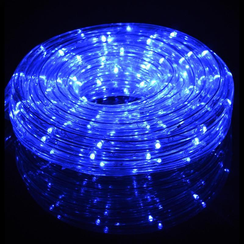 Blue Outdoor LED Fairy String Rope Light, 33 FT, Clear Tube, AC Plug-In - Luna Bazaar | Boho & Vintage Style Decor
