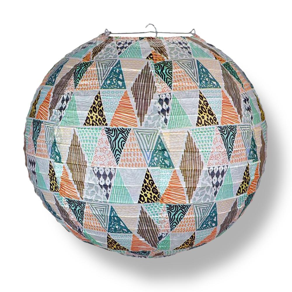 14 Inch Bohemian In the Rough Patterned Premium Paper Lantern - Luna Bazaar - Discover. Decorate. Celebrate
