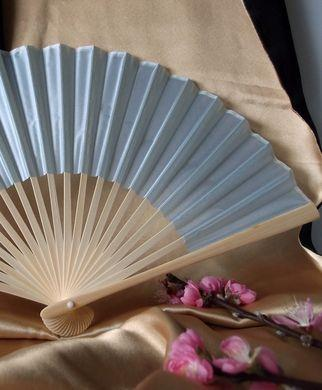 "50-Pack 9"" Arctic Spa Blue Silk Hand Fans for Weddings - Luna Bazaar 