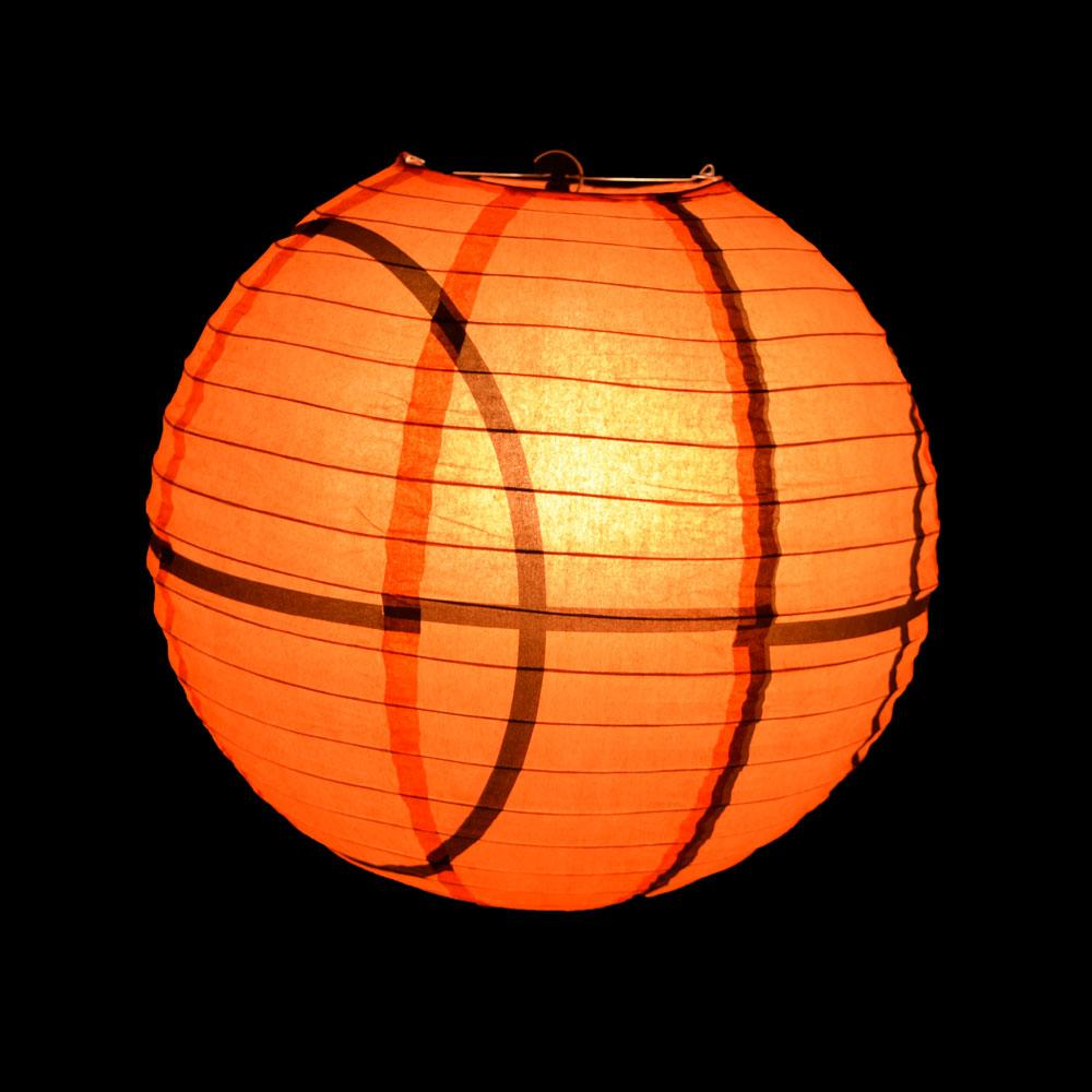 Basketball Paper Lantern Shaped Sports Hanging Decoration - Luna Bazaar | Boho & Vintage Style Decor