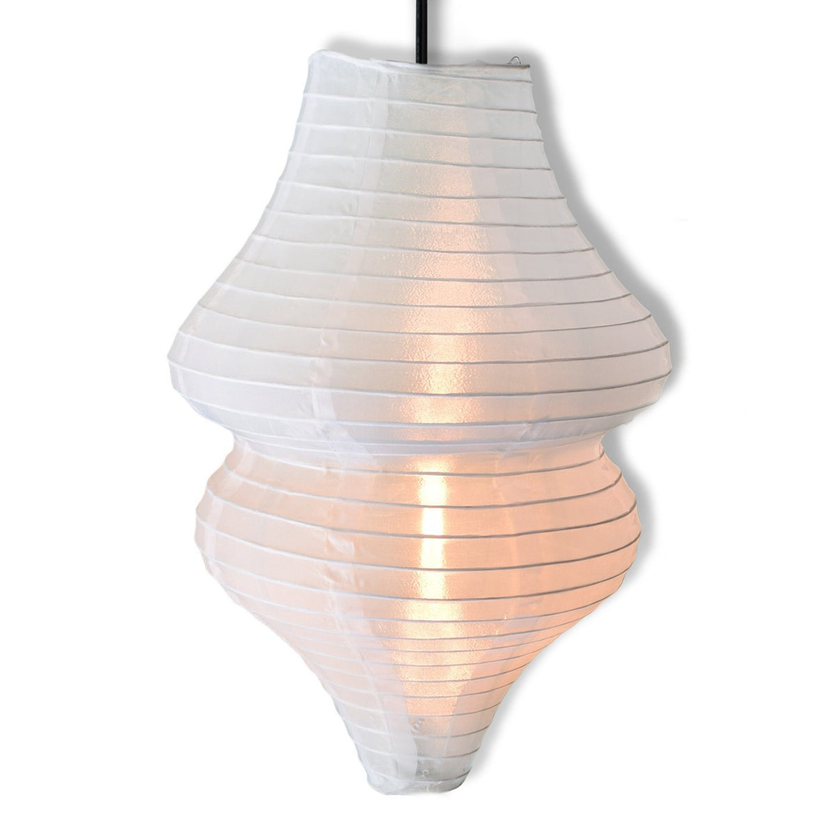 White Beehive Unique Shaped Nylon Lantern, 10-inch x 14-inch - Luna Bazaar | Boho & Vintage Style Decor