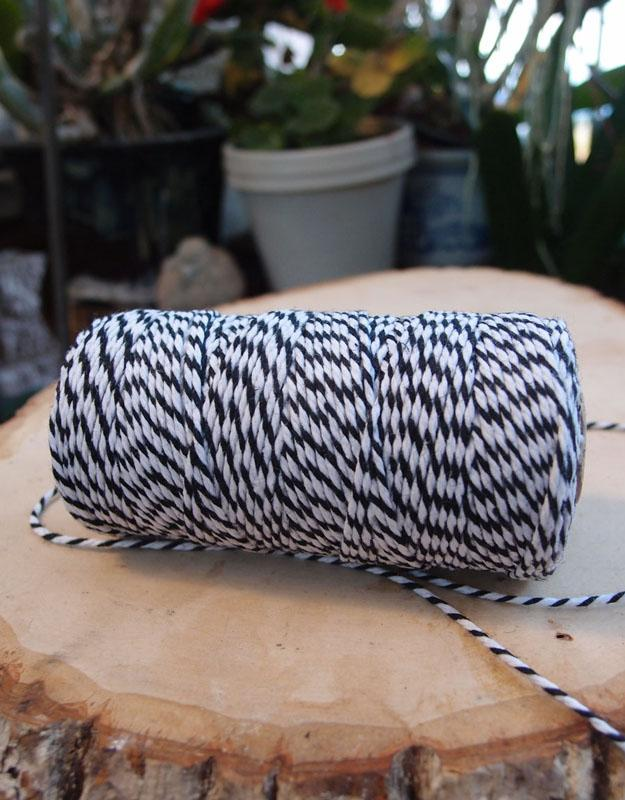 CLOSEOUT Black Bakers Twine Decorative Craft String - Luna Bazaar | Boho & Vintage Style Decor