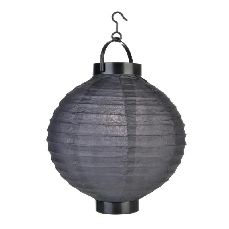 "CLOSEOUT 8"" ""Budget Friendly"" Battery Operated LED Paper Lantern - Black - Luna Bazaar - Discover. Decorate. Celebrate"