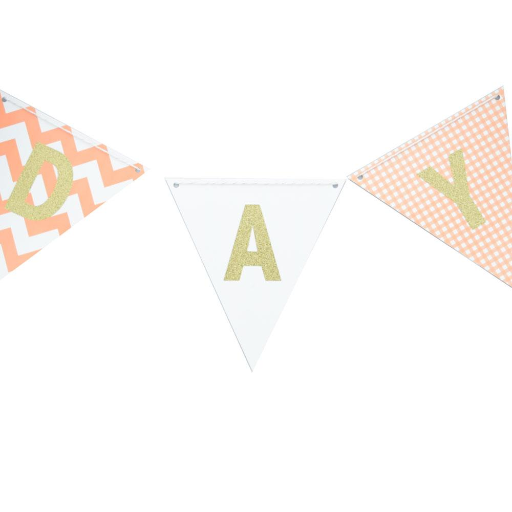CLOSEOUT Blue Ombre Triangle Flag Pennant Banner (11FT) - Luna Bazaar | Boho & Vintage Style Decor