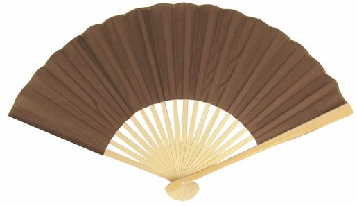 "50-Pack 9"" Brown Silk Hand Fans for Weddings - Luna Bazaar 