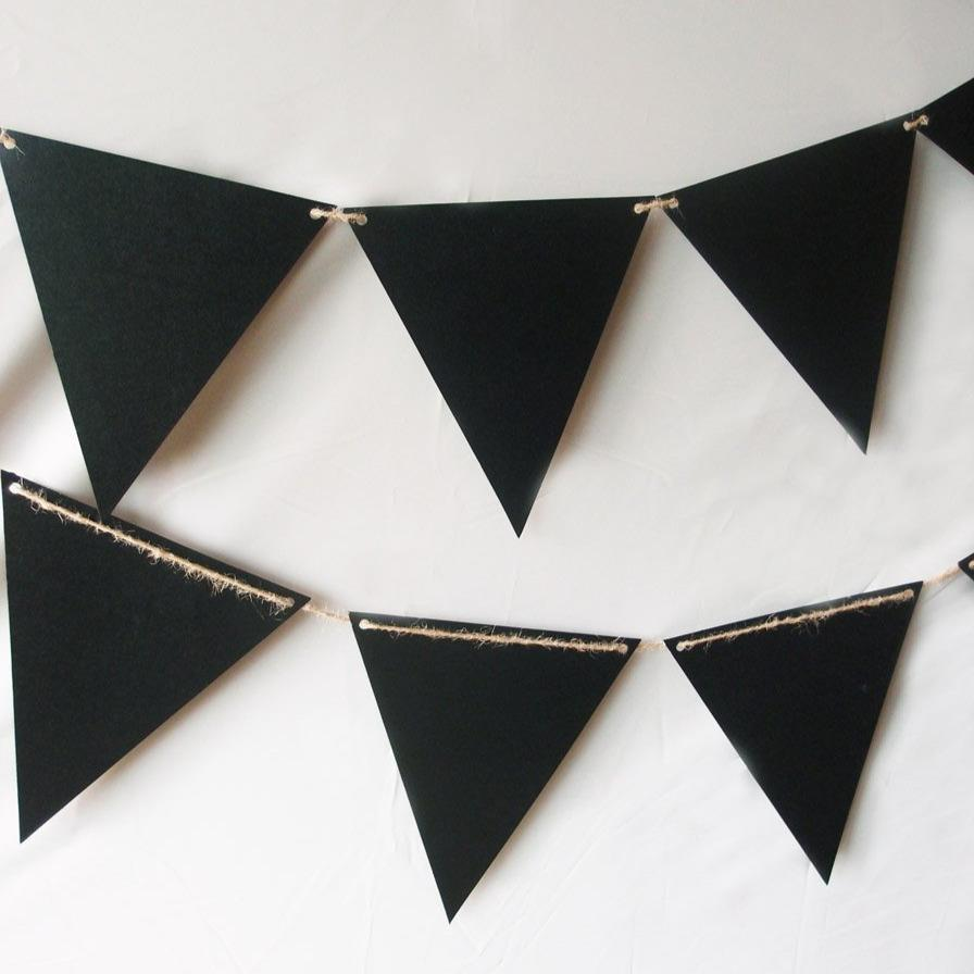 Chalkboard Sign Triangle Flag Pennant Banner Decoration (11FT) - Luna Bazaar | Boho & Vintage Style Decor