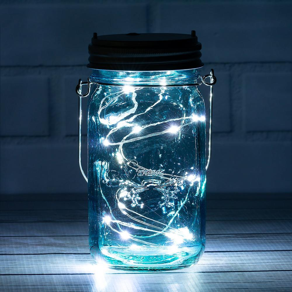 (6-Pack) Fantado Wide Mouth Water Blue Mason Jar w/ Handle, 32oz - Luna Bazaar | Boho & Vintage Style Decor