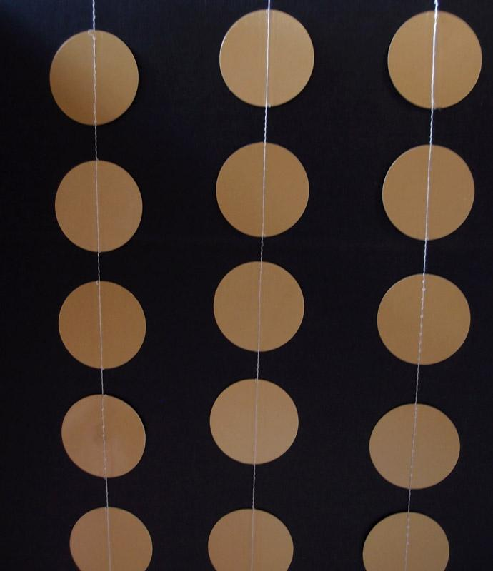 CLOSEOUT Gold Paper Circle Garland, Decoration for Weddings, Holidays, Parties or all occasions - Luna Bazaar - Discover. Decorate. Celebrate