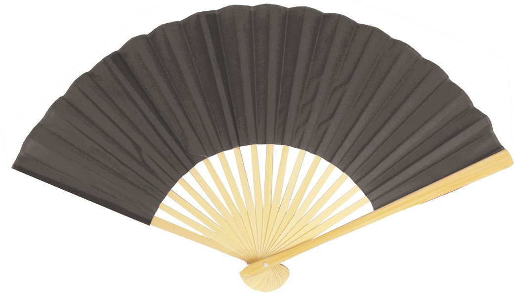 "50-Pack 9"" Gray / Grey Silk Hand Fans for Weddings - Luna Bazaar - Discover. Decorate. Celebrate"
