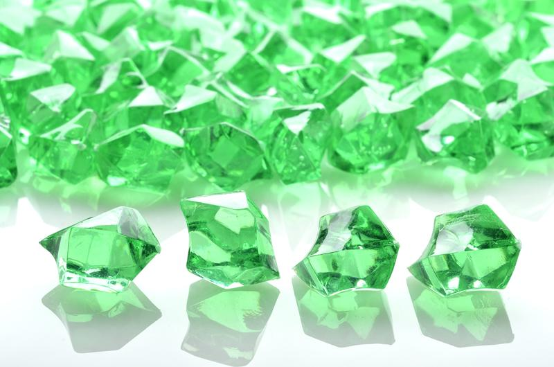 CLOSEOUT Grass Greenery Colored Gemstones Acrylic Crystal Wedding Table Confetti Party Vase Filler (3/4 lb Bag) - Luna Bazaar | Boho & Vintage Style Decor