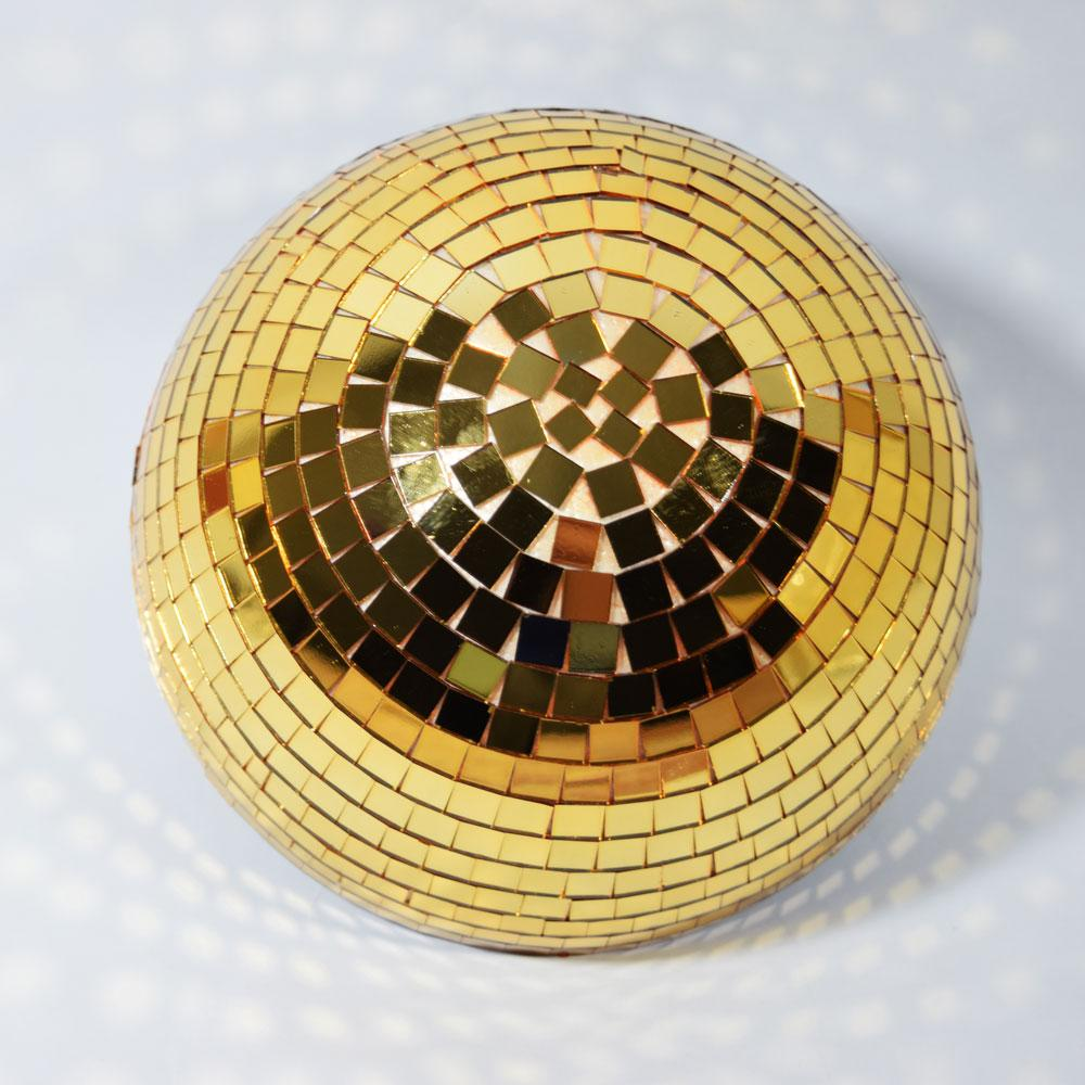 "12"" Gold Half Dome Disco Mirror Ball for Dance Party - Luna Bazaar - Discover. Decorate. Celebrate"