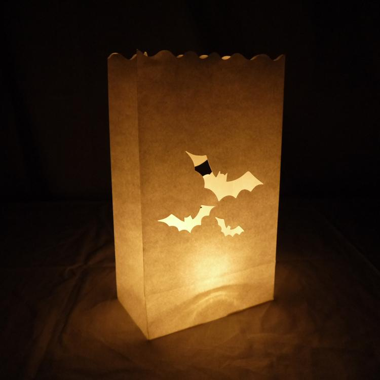 CLOSEOUT Bats Paper Luminaries / Luminary Lantern Bags Path Lighting (10 PACK) - Luna Bazaar | Boho & Vintage Style Decor