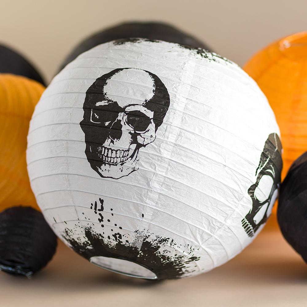Multi-Color 11-pc Halloween Party Pack Paper Lanterns Combo Set on Sale Now At Best Bulk Wholesale Prices! - Luna Bazaar - Discover. Decorate. Celebrate