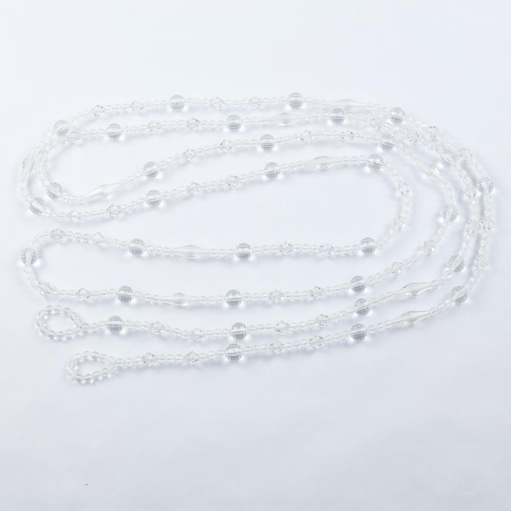 CLOSEOUT 12-FT Acrylic Crystal Jewel Bead Tassel Garland Strand with Loops - Luna Bazaar | Boho & Vintage Style Decor