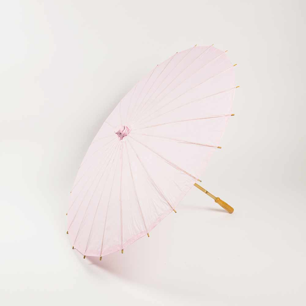 "20"" Pink Paper Parasol Umbrella for Weddings and Parties - Great for Kids (Sun Protection) - Luna Bazaar - Discover. Decorate. Celebrate"