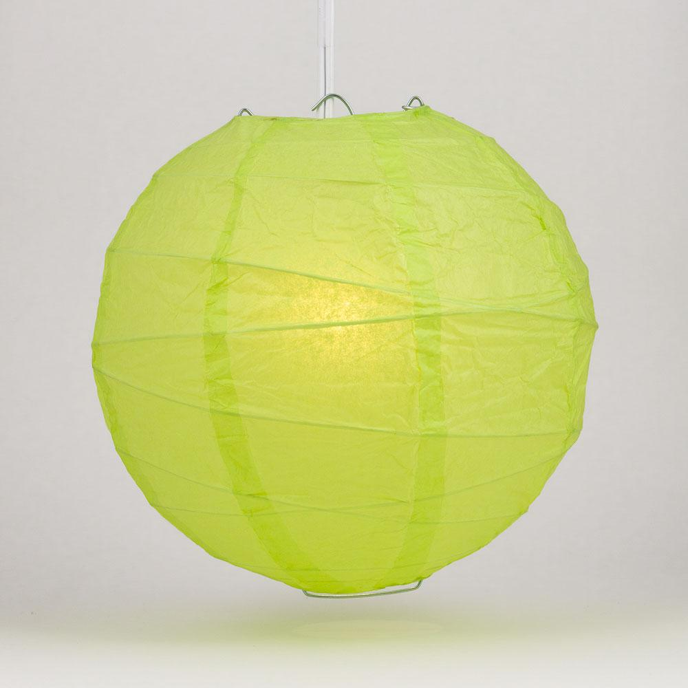 "10"" Light Lime Green Free-Style Ribbing Round Paper Lantern - Luna Bazaar - Discover. Decorate. Celebrate"