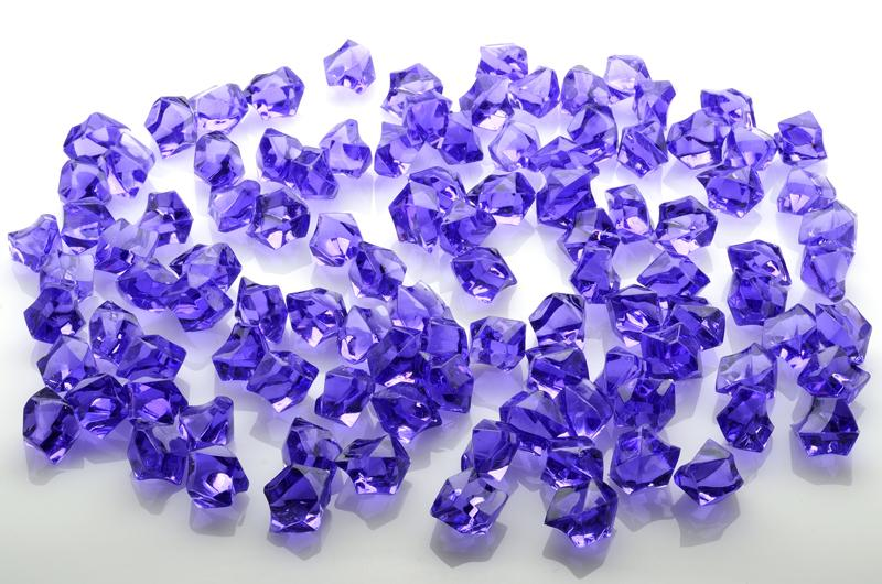CLOSEOUT Dark Purple Gemstones Acrylic Crystal Wedding Table Scatter Confetti Vase Filler (3/4 lb Bag) - Luna Bazaar | Boho & Vintage Style Decor