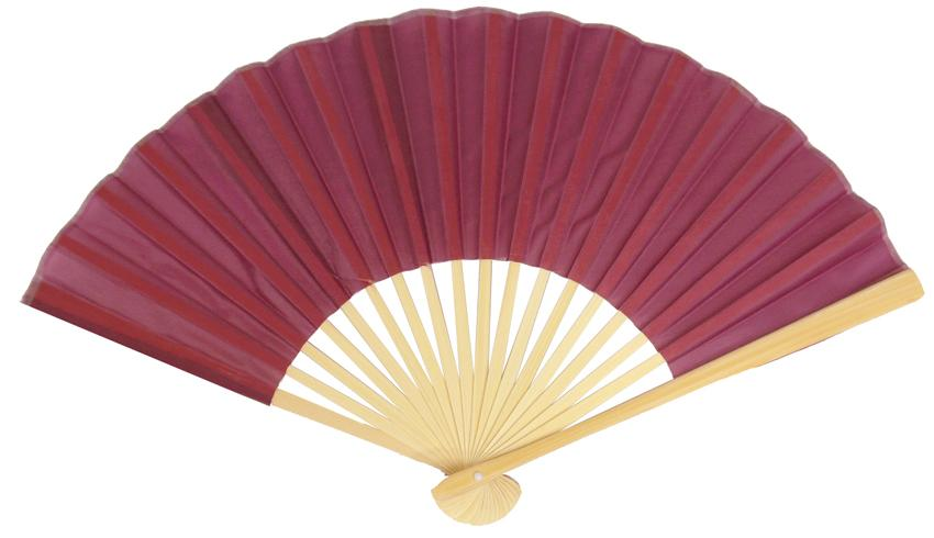 "9"" Marsala / Burgundy Wine Silk Hand Fans for Weddings (10 Pack) - Luna Bazaar - Discover. Decorate. Celebrate"