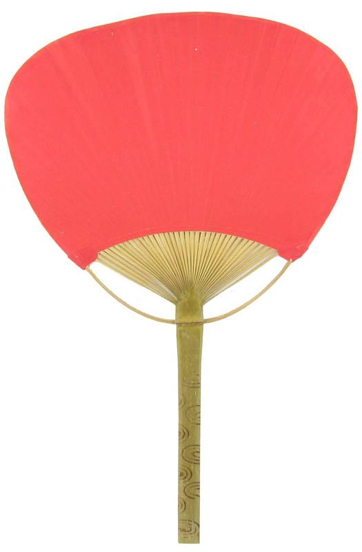 "9"" Red Paddle Paper Hand Fans for Weddings (10 Pack) - Luna Bazaar 