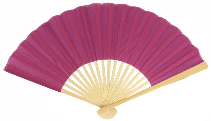 "CLOSEOUT 9"" Violet Silk Hand Fans for Weddings (10 Pack) - Luna Bazaar 