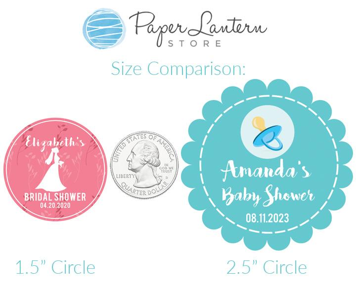2.5 Inch Invitation Themed Circle Label Stickers for Party Favors & Invitations (Pre-Set Designed, 24 Labels) - Luna Bazaar | Boho & Vintage Style Decor