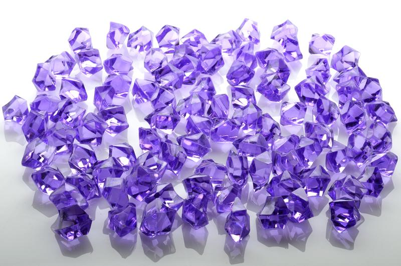 CLOSEOUT Lavender Colored Gemstones Acrylic Crystal Wedding Table Scatter Confetti Vase Filler (3/4 lb Bag) - Luna Bazaar - Discover. Decorate. Celebrate