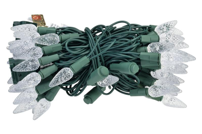 CLOSEOUT 70 Outdoor Cool White LED C6 Strawberry String Lights, 24 FT Green Cord, Weatherproof, Expandable - Luna Bazaar | Boho & Vintage Style Decor