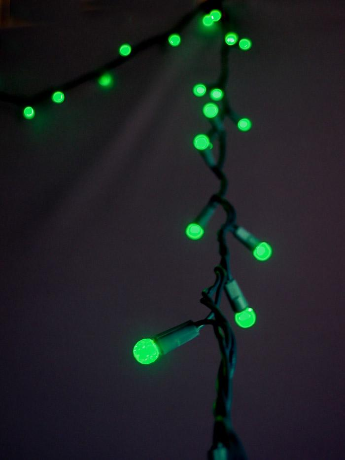 CLOSEOUT 70 Outdoor Green LED G12 Raspberry String Lights, 23.6 FT Green Cord, Weatherproof, Expandab - Luna Bazaar - Discover. Decorate. Celebrate