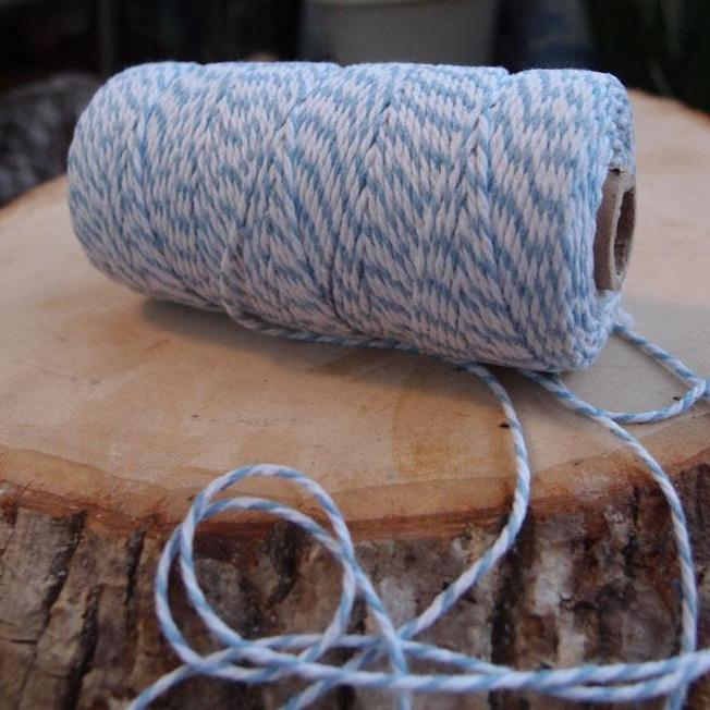 Light Blue Bakers Twine Decorative Craft String - Luna Bazaar | Boho & Vintage Style Decor