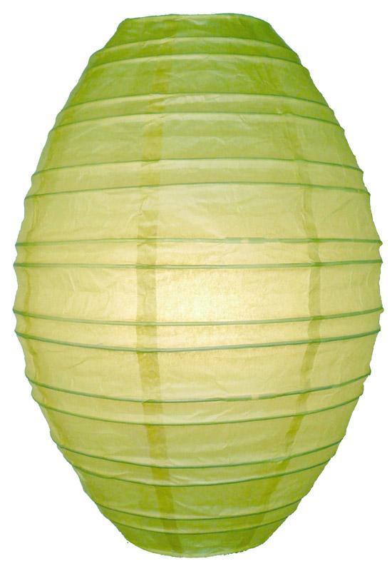 Light Lime Kawaii Unique Oval Egg Shaped Paper Lantern, 10-inch x 14-inch - Luna Bazaar | Boho & Vintage Style Decor
