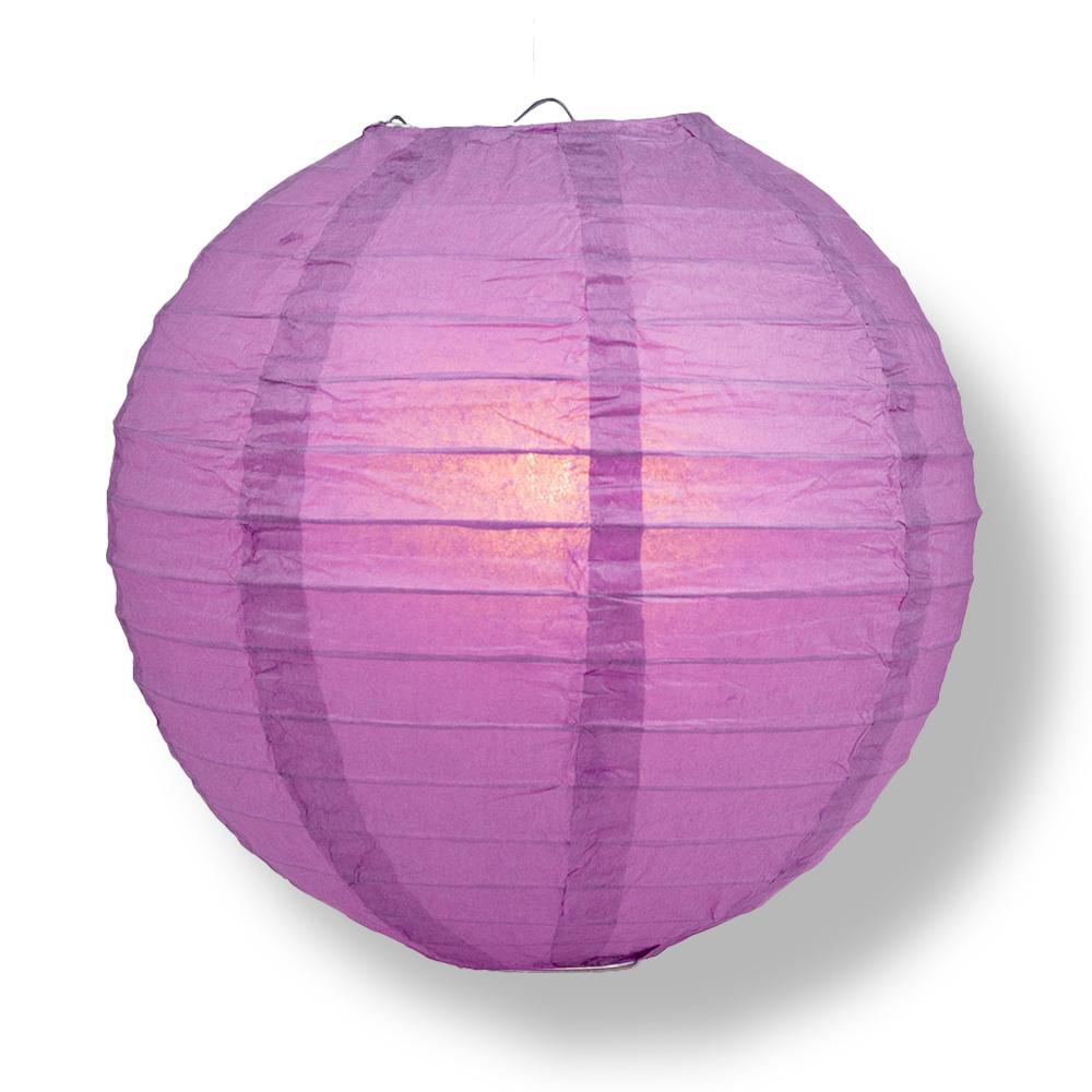 "24"" Violet / Orchid Parallel Ribbing Round Paper Lantern - Luna Bazaar - Discover. Decorate. Celebrate"