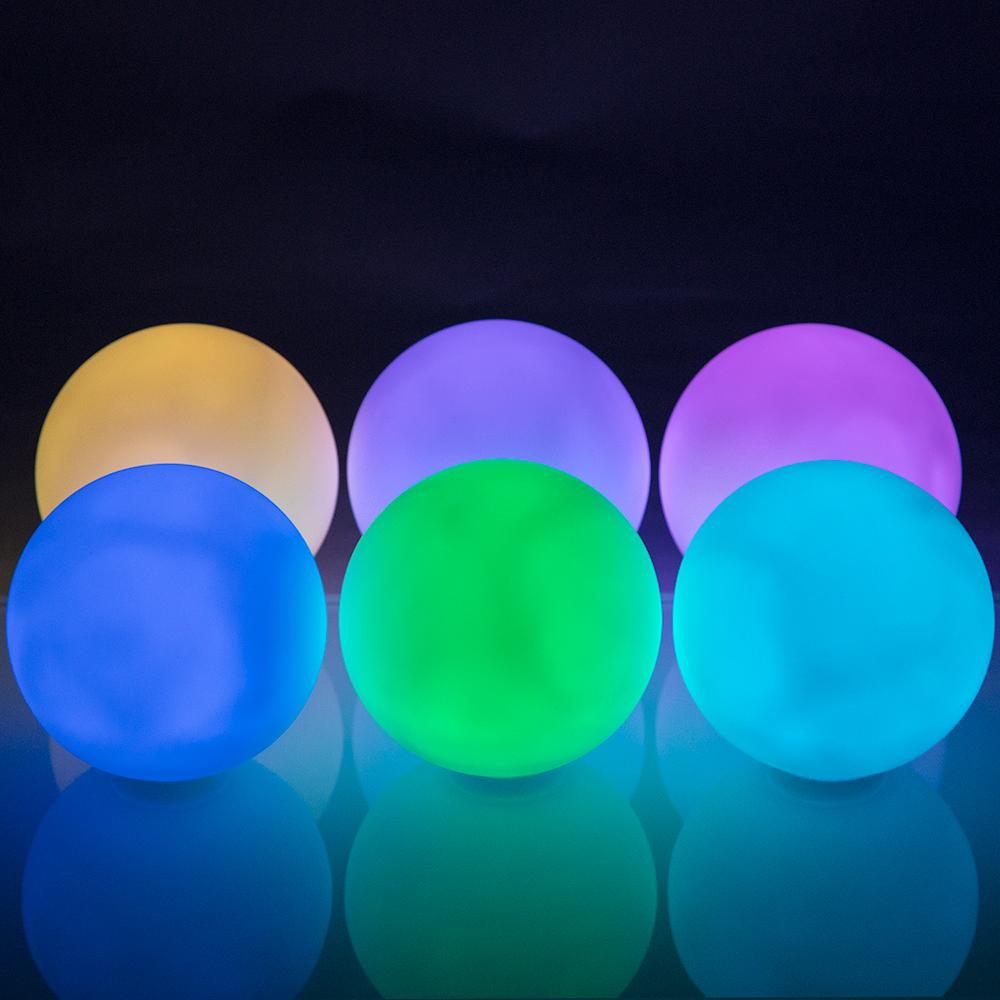 "Fantado MoonBright™ 3"" Mini Orb Color Changing Waterproof LED Rainbow Light, Floating (Battery Operated, Remote Control, 6-Pack) - Luna Bazaar - Discover. Decorate. Celebrate"