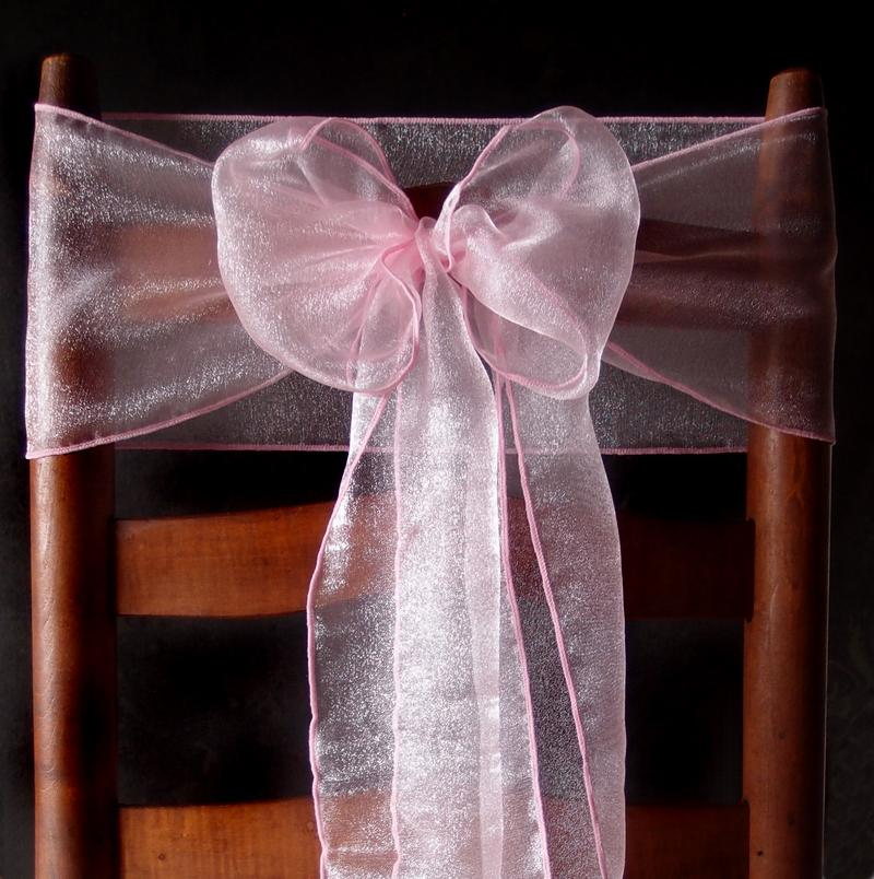 CLOSEOUT Pink Organza Chair Sashes (9FT, 10 PACK) - Luna Bazaar | Boho & Vintage Style Decor